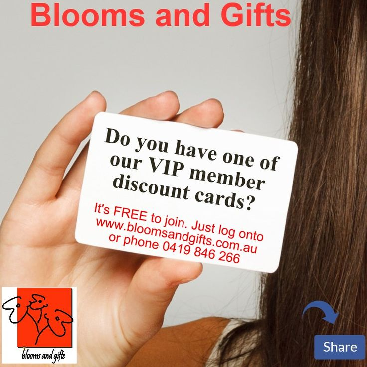 For everyday #flowers and $gifts, by signing up to become a VIP member online, this gives you instant discounts and special offers. For more details please visit www.bloomsandgifts.com.au