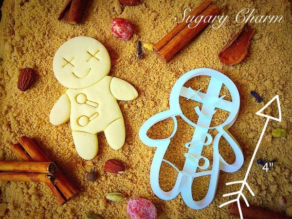Voodoo Doll cannot be neglected at the time of Halloween. Buy Halloween Voodoo Doll Cookie Cutter from SugaryCharm this season and add the spooky flavor.