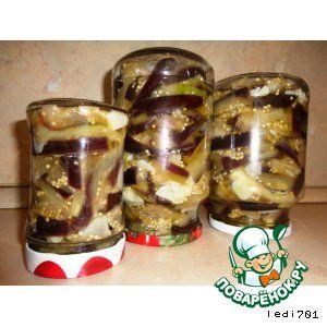 """Баклажаны """"Грибочки"""" в масле. Баклажан — 2,5 кг Вода — 2,5 л Соль — 100 г Уксус…"""