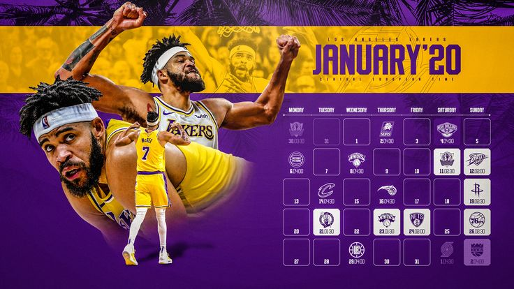 Schedule Wallpaper for the Los Angeles Lakers Regular