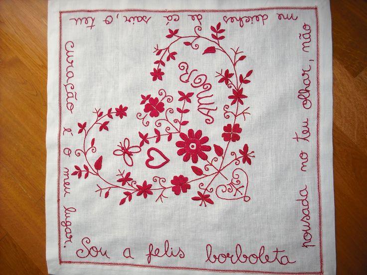 Embroidery Portuguese Love Handkerchief!