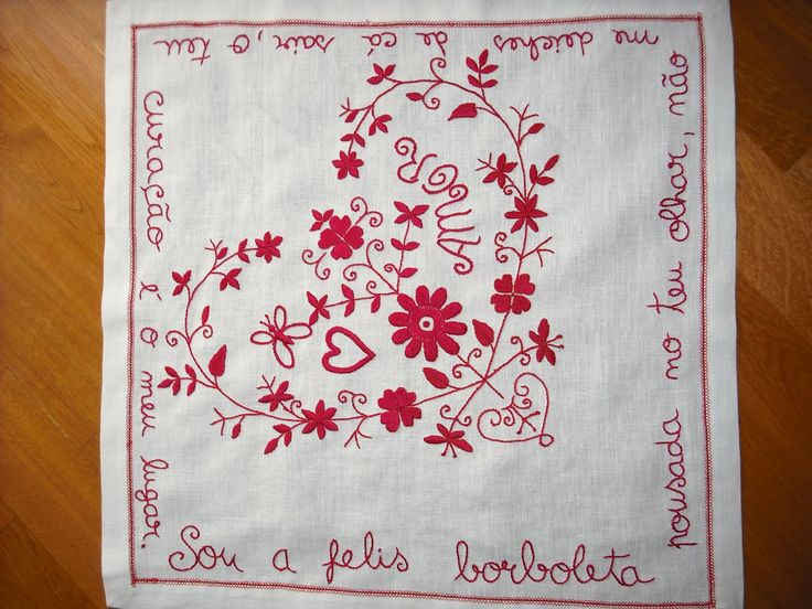 Embroidery Portuguese Love Handkerchief!