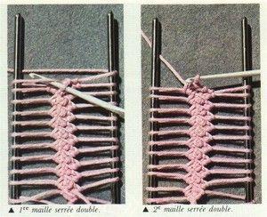 Explications du crochet à la fourche... - Aiguilles & Co.
