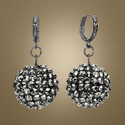Jennifer Lopez Jet Studded Ball Drop Earrings