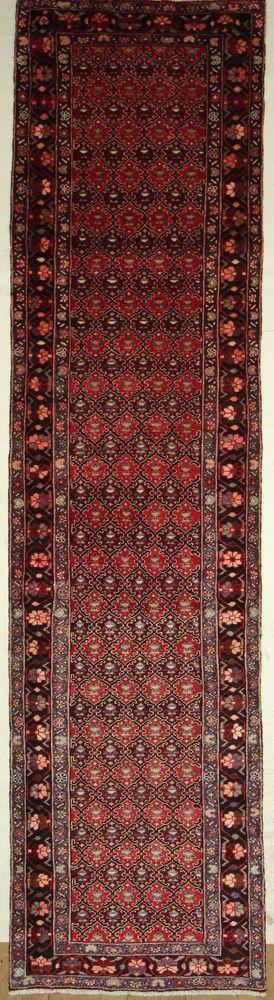 Nahavand Handgeknüpft  PerserTeppich Rugs  400 x 100 cm tappeto Orient