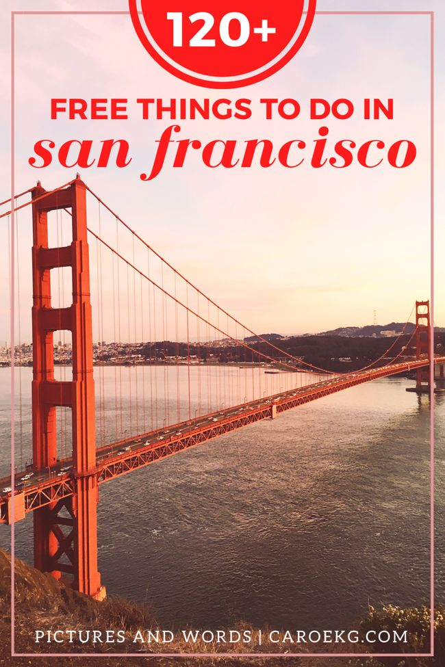 Looking for some free things to do in San Francisco? Here are over 120 fun + absolutely free San Francisco activities! // San Francisco travel, things to do in San Francisco, San Francisco Guide, what to do in SF, SF activities, San Francisco, California, USA