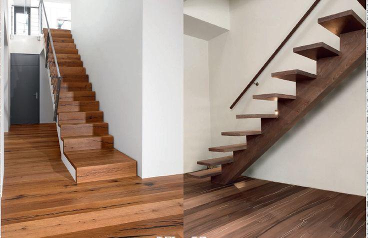 Mejores 7 imgenes de Escaleras de interior en madera en Pinterest