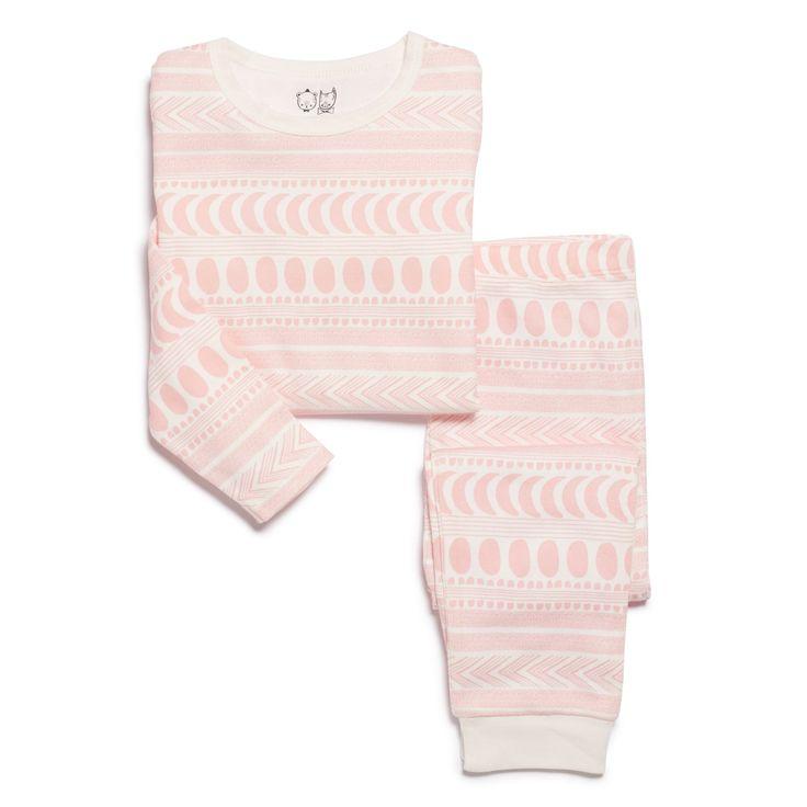 Made from 100% organic cotton, our pink moon aztec kids pyjama set comes with long sleeve top and pant.   #wilsonandfrenchy #babystyle #kidssleepwear #pyjamas #organiccotton #baby #fashion #unisex #babylove #perfectbabies  #unisexbabyclothes  #newmum #babygift #babyshower #australiandesign #shopbaby #mumsunite #babylove #magicofchildhood #little