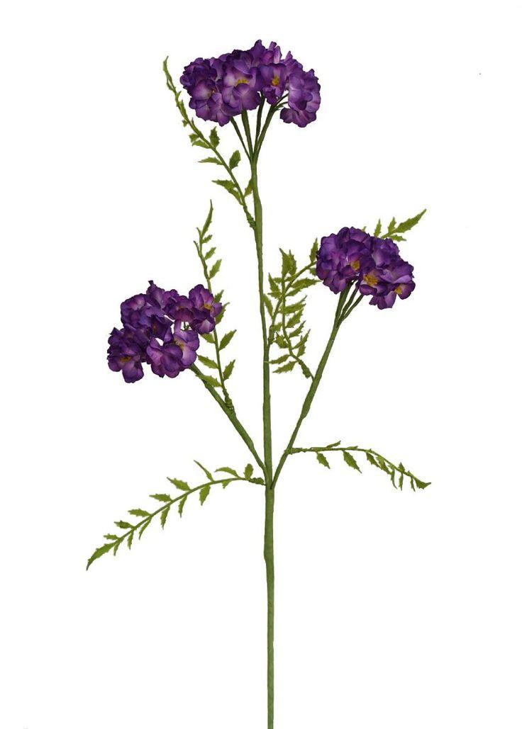 "Artificial Phlox Flower Spray in Purple - 25"" Tall"