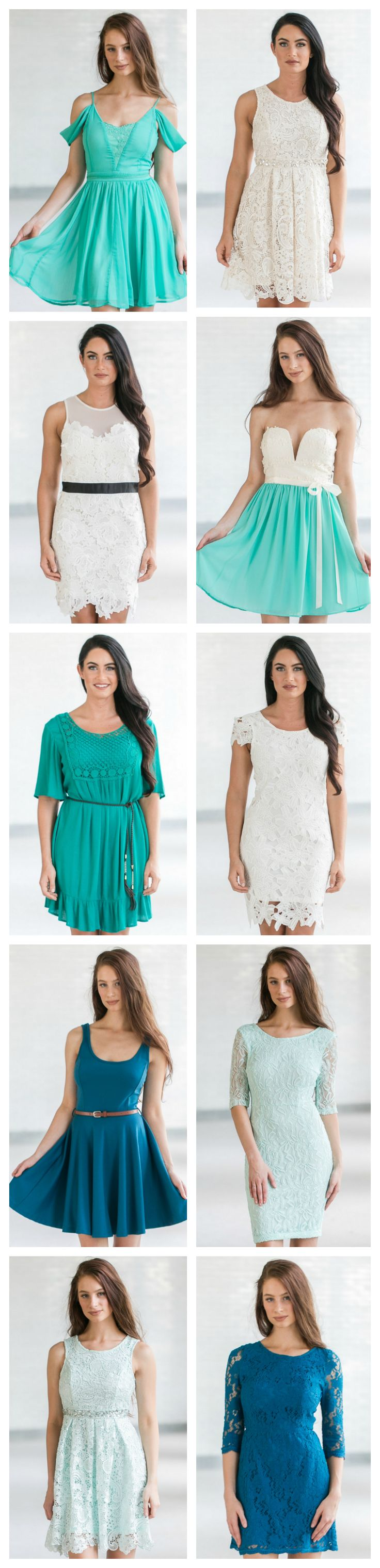 Beautiful mint green dresses at www.lilyboutique.com! FREE shipping over $75!