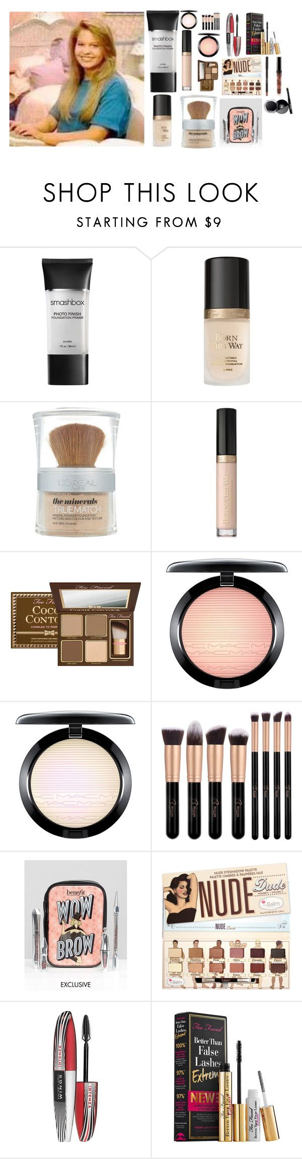 """""""Dj tanner makeup"""" by laurenatria11 ❤ liked on Polyvore featuring beauty, Smashbox, Too Faced Cosmetics, L'Oréal Paris, MAC Cosmetics, Benefit and Chanel"""
