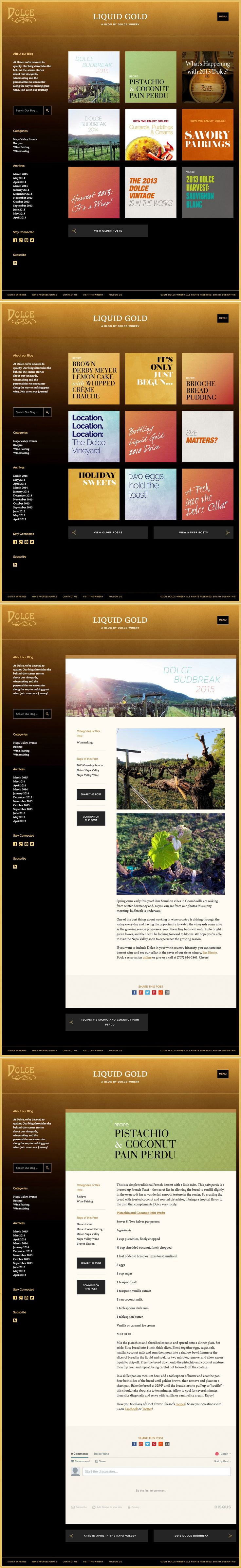 Dolce Winery   Blog   by designthis!