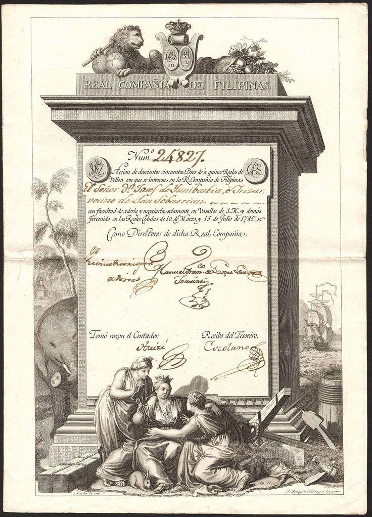 Real Compañia de Filipinas, No. 24827, 1785, 250 Pesos