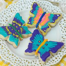 Yellow Kitchen Cookies - butterfly cookies