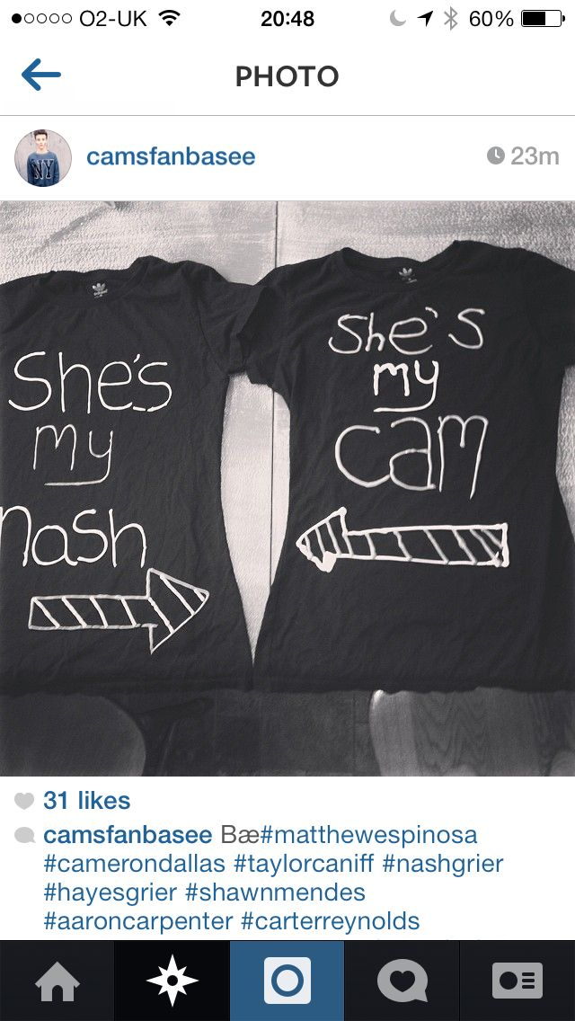 Best friend shirts @Cameron Daigle Dallas and @Cheryl Nash Grier #nashnotice #nashtag I think this is too cute!!