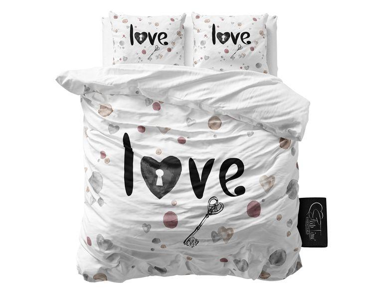 Pościel holenderska 200x220 z romantycznym napisem Love