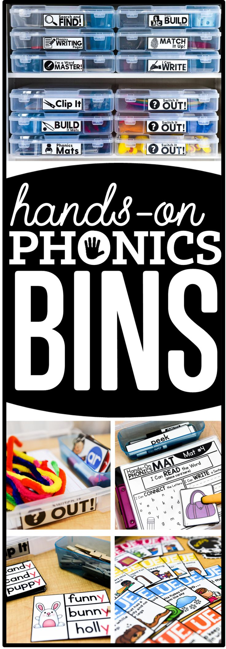 hands-on phonics bins....love these for word work