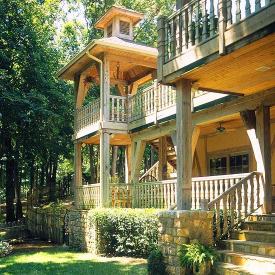 68 best images about second story deck ideas on pinterest for Two story deck design pictures