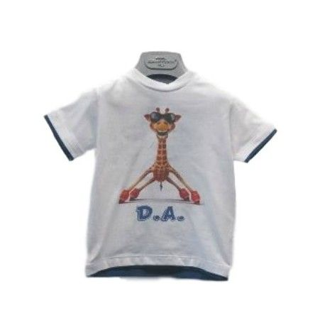 T-SHIRT BIMBO ALESSANDRINI KIDS T-Shirt da bambino di Alessandrini Kids in cotone di colore bianco con stampa frontale, manica corta, girocollo e profili a contrasto, ideale per la scuola e il tempo libero. #danielealessandrini #alessandrinikids #t-shirt #magliette #bimbi #bambini #neonati #bebè #ragazzi #kids #junior #teen #boys #child #newborn