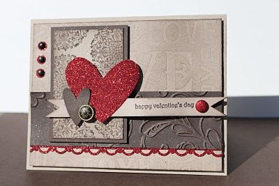 Stampin Up Valentine Card