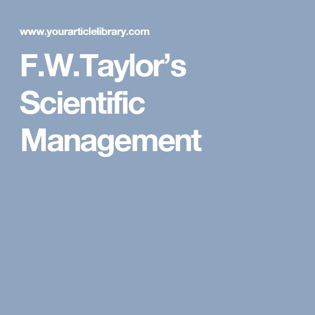 essay on taylorism Although the principles of taylorism have had a positive outcome on efficiency of production and productivity of workers, it has negatively impacted the workers as it has decreased job satisfaction thus increasing the repetitive nature of the workload.