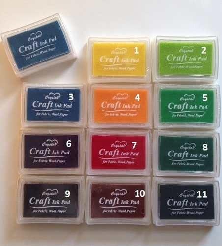 pad tintas importadas para scrapbooking crystal