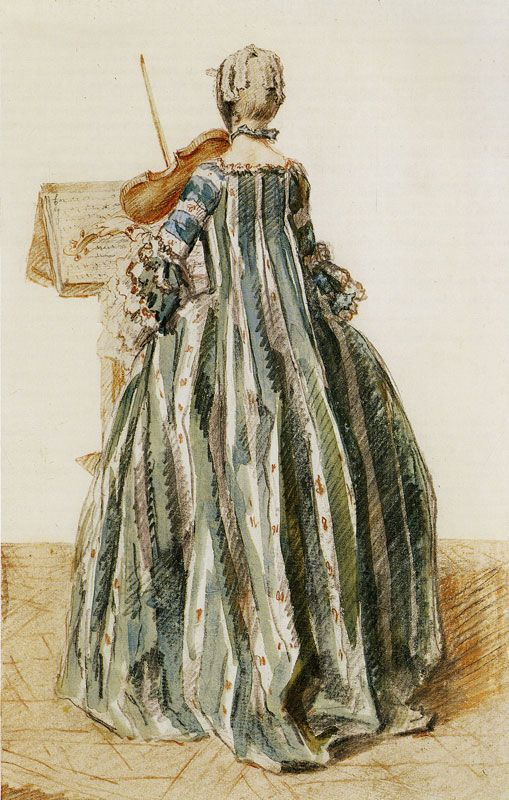 Louis de Carmontelle - Woman Playing the Violin, Seen from the Back