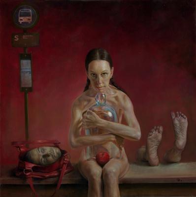 Innocent  Date:2009  Medium:Oil on canvas  Original Dimensions:36x36