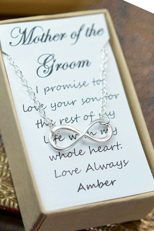 Such a precious gift for the mother of the groom.
