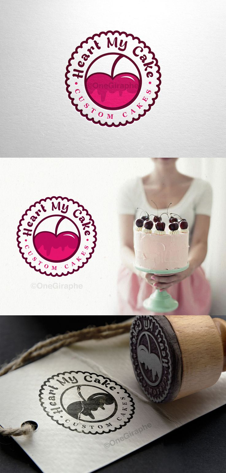 Branding for Cake, Cupcake & Bakery for sale!  - Logo ( color variations and black / white ) + business card design ( 2 sides ) as bonus. Format files: eps, pdf, png, jpg or any other at request. Order now at: onegiraphe@gmail.com #cake #logo#bakery #stand #pink #logo #design #sale #logostore #stocklogos #logopond#behance #brand #identity #brandidentity #graphic #graphicdesign #designer #gold#classic