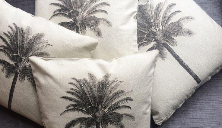 Coole kussens met palmbomenprint