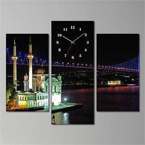 Tabloshop Boğaz Köprüsü Ortaköy kanvas tablo saat ayağınıza gelsin.
