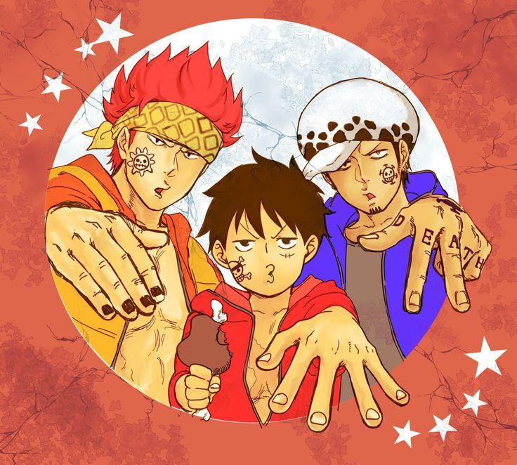 Kid, Luffy, Law