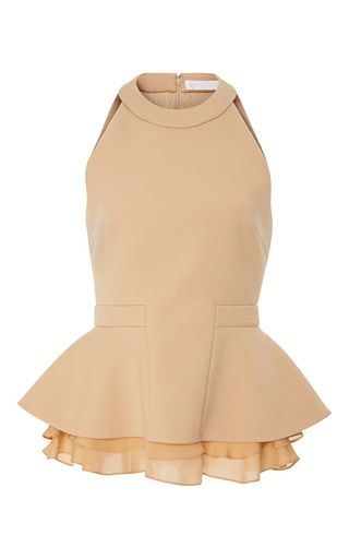 Stretch Allegra Double Georgette Peplum Top by CUSHNIE ET OCHS for Preorder on Moda Operandi