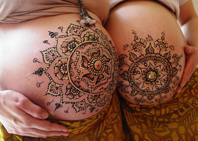 Mama Henna Two Times Pregnancy Henna Belly Art