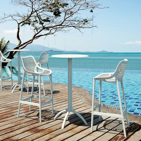 BEST OUTDOOR BAR STOOLS - WHITE LIKE SNOW