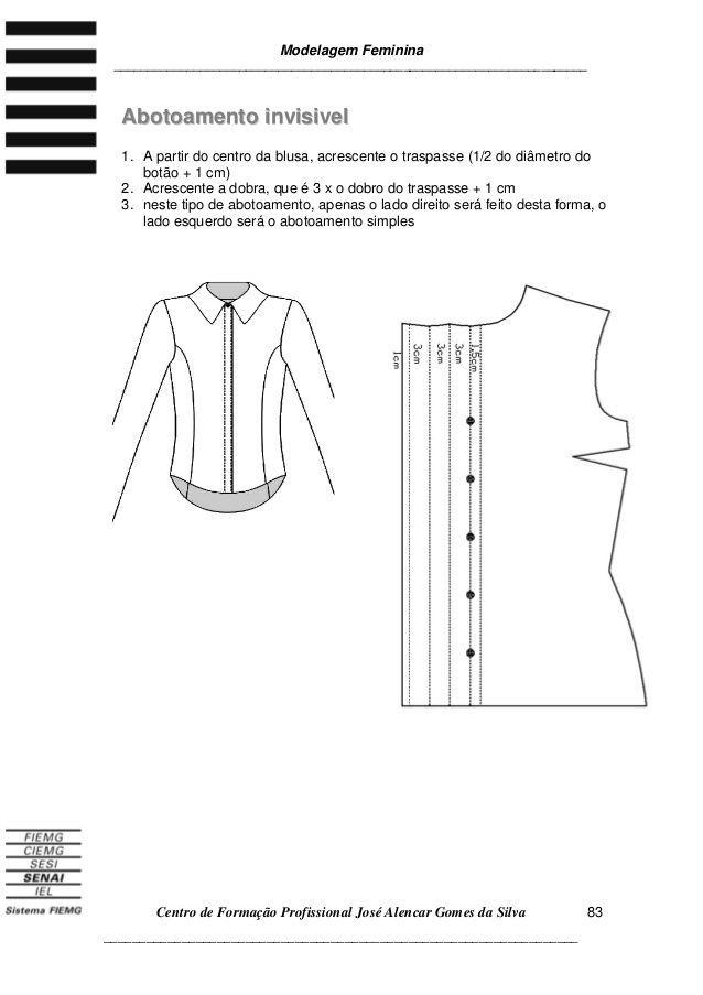 3apostila3 de modelagem blusa | Moldería | Pinterest | Costura ...