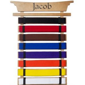 Martial Arts Belt Holder - Personalized   should be easy to copy and customize.