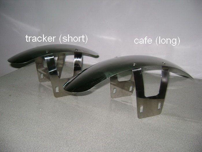 Tracker Kotflügel vorne Yamaha 500 SR  XS 650 Stainless Steel Short Fender