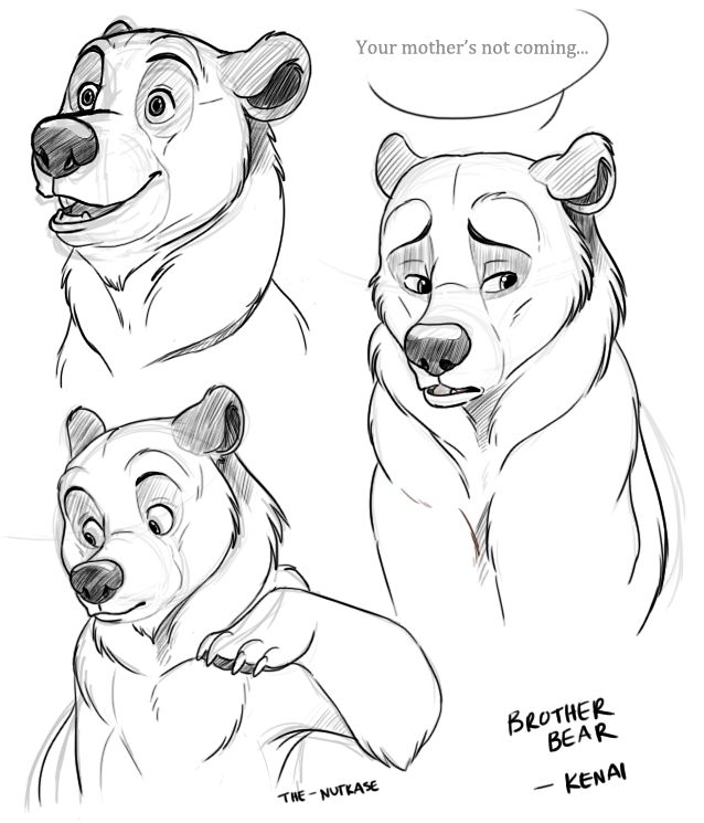 Brother Bear Sketches by The-Nutkase on DeviantArt