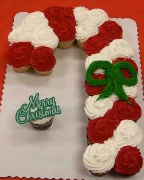 Pull Apart Candy Cane Cake