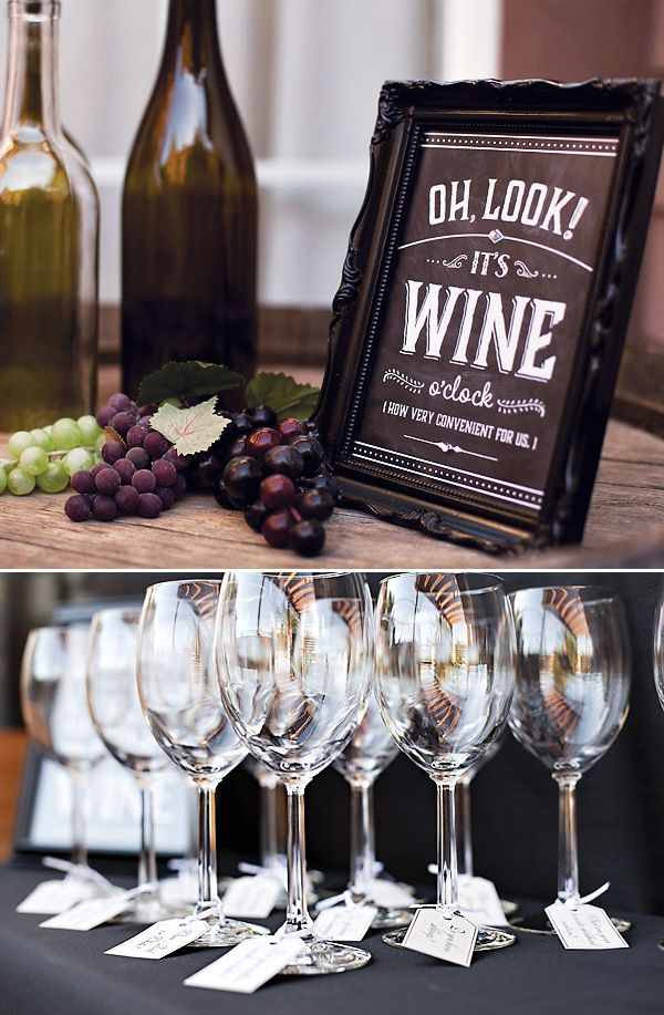 Chalkboard text & design // A Rustic Glam Wine Tasting Party at Home