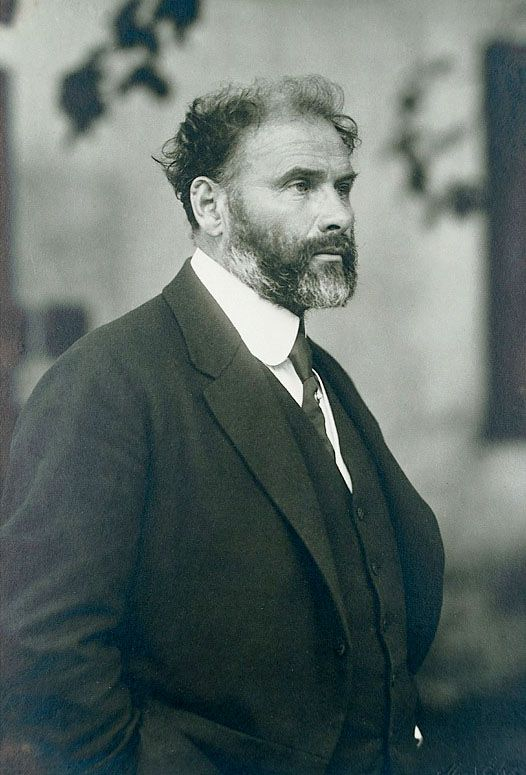 Gustav Klimt 1862-1918 / Vienna 1917 / age 55. One year before his death / the last portrait of the painter / photo by Moriz Nähr.