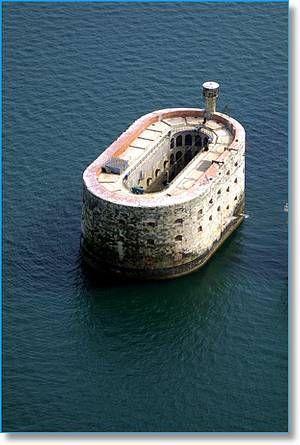 Fort Boyard lighthouse [1858- Île d'Óleron, Aquitaine, France]:
