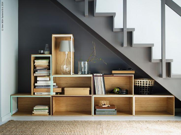 IKEA PS 2014 stiliga förvaringsmoduler i bambu gör det enkelt att bygga ett eget lådsystem som passar just dina utrymmen, både på bredden och höjden.
