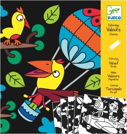 Colouring velvet birdz #djeco