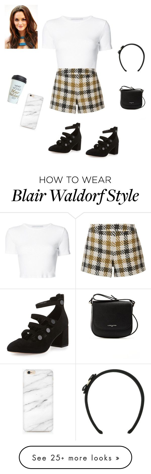 """Blair Waldorf"" by omg-gab on Polyvore featuring Rosetta Getty, Alice + Olivia, Rebecca Minkoff and Lancaster"