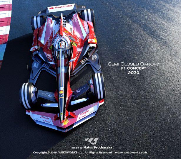 Semi Closed Canopy F1 Concept Car by Matus Prochaczka ...