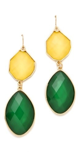Awesome color combo <3: Colors Combos, Drop Earrings, Bur Valuable Gift, Baylor Earrings, Packers Jewelry, Stones Drop, Baylor Colors, Green Bays Packers, Stones Earrings
