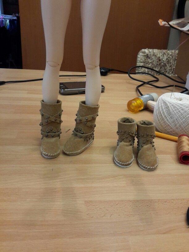 #Indianini #boots #Minifee #msd #bjd #doll #suede #nonpossoviveresenzaindianini #madeinitaly #artigianatoitaliano #style4bjd #botas#leather